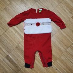 Vánoční kojenecký úpletový overal