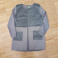 Kabát úplet/plyš
