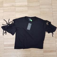 Černé tričko NEW LOOK